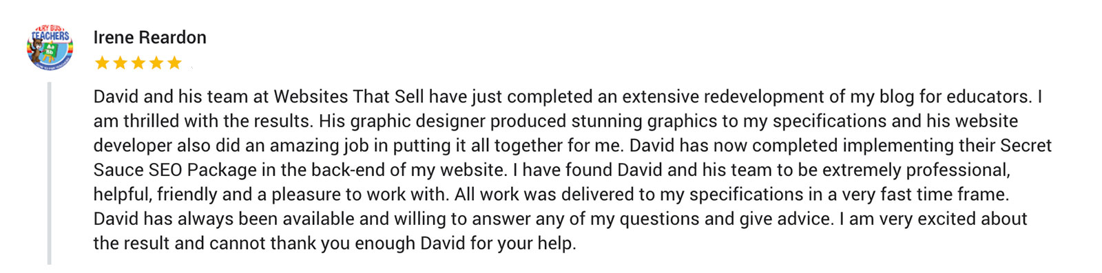 testimony for seo company