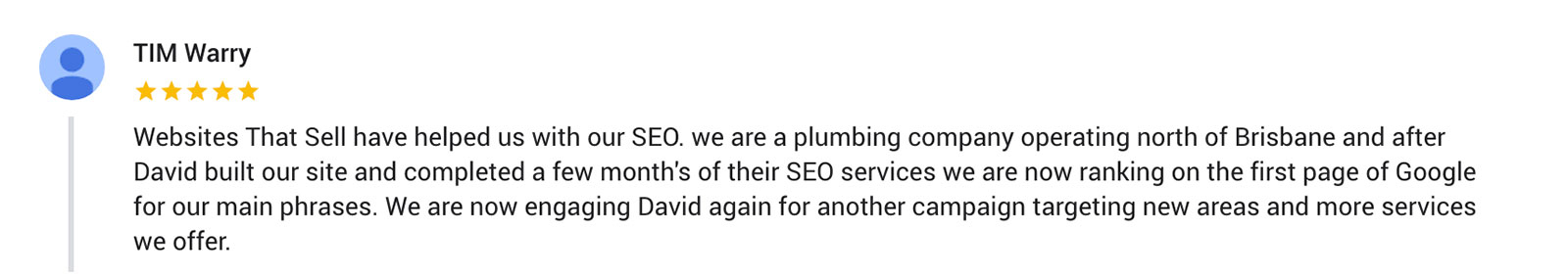 testimony for seo services